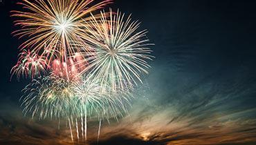 Fourth of July Fireworks Celebration in Pembroke Virginia Lodge