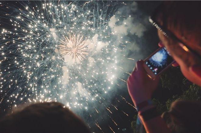 July Fireworks Celebration in Pembroke Virginia Lodge