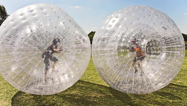 Zorb Racing at Mountain Lake Lodge, Pembroke